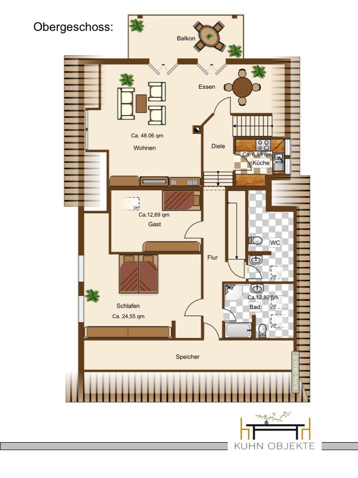 lachen speyerdorf efh mit garten und balkon in sch nster feldrandlage kuhn objekte. Black Bedroom Furniture Sets. Home Design Ideas